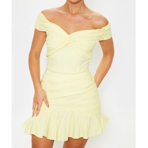 PLT Yellow Bodycon Dress 10 NWT